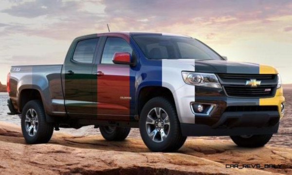 Pick up Chevrolet Silverado multicolor